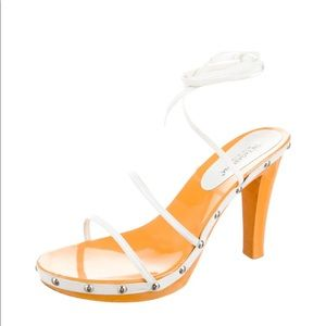 D&G NEW Strappy White Studded Heels!